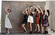 Sasha Pivovarova´s wedding by Arthur Elgort. US Vogue.