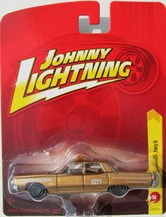 """2011 Johnny Lightning 1967 Plymouth Fury II 1:64 die cast car release 14 (State Patrol: copper-brown) by Learning Curve Brands, Inc.. $15.88. for ages 3+ and adult collector. 1 of 12 in series 14. die cast metal and plastic parts. moving parts. 1:64 scale. 2011 Johnny Lightning 1967 Plymouth Fury II 1:64 die cast car release 14 (State Patrol: copper-brown).  Body has """"State Patrol"""" and #5271 detail on body. Has emergency lights on top. Hood opens."""