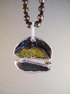 Cascade mountains pendant electroformed jewelry by AurumgirlStudio