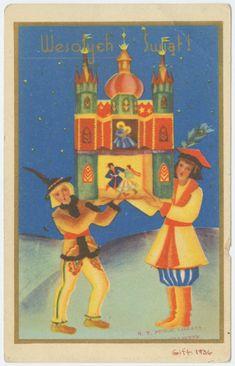 Polish mountains folk Christmas card