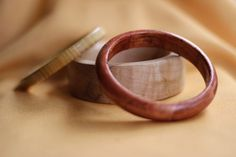 Wood Bangles on the lathe