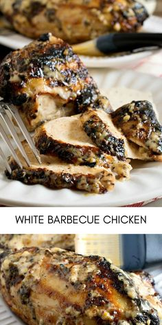 This White Barbecue Chicken is sure to become a new crowd favorite at your summer cookouts! #easyrecipes #dinner #chickenrecipes #food #cooking #chicken #easy #recipes Easy Chicken Recipes, Easy Recipes, Barbecue Chicken, Crowd, Pork, Dinner, Cooking, Summer, Easy Keto Recipes