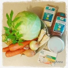 Stuffed Cabbage Rolls with Quinoa - ingredients !