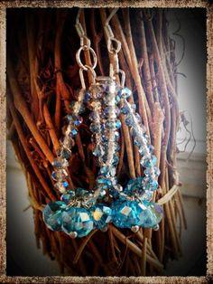 Glass Aqua blue hoop earrings on Etsy, $7.50