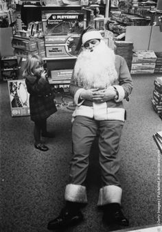 vintage everyday: Old Photos of Santa Claus