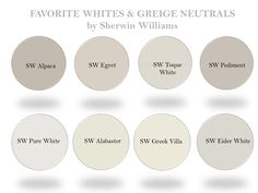 A Neutral-White Paint Round-Up Off White Paint Colors, Greige Paint Colors, Off White Paints, Wall Paint Colors, Bedroom Paint Colors, Gray Paint, Neutral Paint, Sherwin Williams Elder White, Paint Colors
