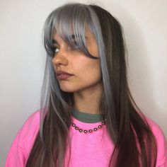 Dyed Hair Streaks Hair Colors Para seeing that cacheadas elizabeth crespas, dormir Split Dyed Hair, Dyed Hair Blue, Dyed Blonde Hair, Half Dyed Hair, Lilac Hair, Gold Hair, Green Hair, Silver Hair, Hair Color Streaks