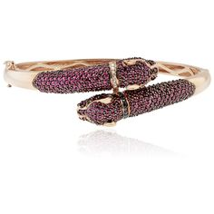 Effy Jewelry Effy Signature 14K Rose Gold Ruby, Black and White... ($12,995) ❤ liked on Polyvore featuring jewelry, bracelets, ruby, diamond bangle bracelet, rose gold diamond jewelry, hinged bangle, rose gold bangle bracelet and diamond bracelet bangle