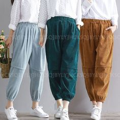 Size Chart Waist ( Elastic ) Hips Length. Color issue: The Real Item color which you receive maybe little. Material: Corduroy. If you are not satisfied with our product or service. We will try our best to resolve any problems. | eBay!