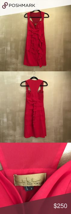 Nicole Miller cocktail/ evening dress Searching for a dress that'll make you pop? This super flirty and sexy fire-engine-red Nicole Miller cocktail/ evening dress will do the trick! It's incredibly flattering and has a very slimming fit. Also in perfect condition! Nicole Miller Dresses