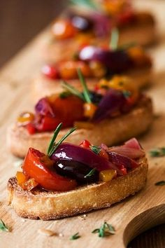 """Mini bruschetta  Take a slice of whole wheat toast, brush it with 1/2 teaspoon of olive oil and top with diced tomatoes and diced olives. You'll get a dose of healthy fats from both the olive oil and the olives (three-quarters of the fat found in olives is from """"good"""" fats). Plus, olives are a great source of iron."""