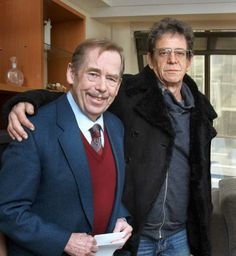 Lou Reed and Václav Havel together in Prague: Photo: Ondřej Němec
