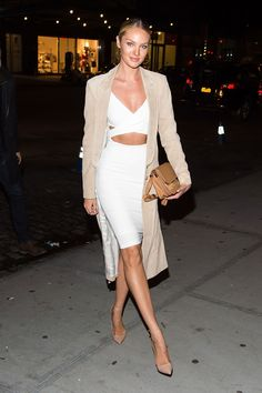 Tuesday, December 10, 2015 - Candice Swanepoel attending the 2015 Victoria's Secret Fashion Show viewing party in New York City.