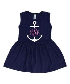 Another great find on Navy Anchor Monogram Dress - Toddler & Girls Anchor Monogram, Navy Anchor, Nautical Outfits, Nautical Dress, Toddler Girl Dresses, Toddler Girls, Anchor Birthday, Dress Cuts, Baby Ideas