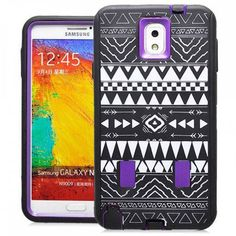SAMSUNG GALAXY NOTE 3 CASE, SHOCKPROOF DIRT PROOF HYBRID ARMOR COVER (TRIBAL PURPLE) | #cellphonegadgets #mobileaccessories www.kuteckusa.com