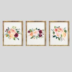 Floral Nursery Decor, Floral Nursery Print, Floral Nursery Printable, Floral Nursery Art,Nursery Watercolor, Nursery Decor Girl, Nursery Art