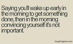 Saying you'll wake up - LaughingText