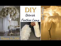 Diy Storage Bed, Diy Floor Lamp, Feather Lamp, Flower Lamp, Handmade Lamps, Diy Crystals, Diy Chandelier, Diy Flooring, Diy Art