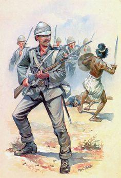 1882 British; Royal Marine 1882 Sudan Battle of Tamai by C C Stadden