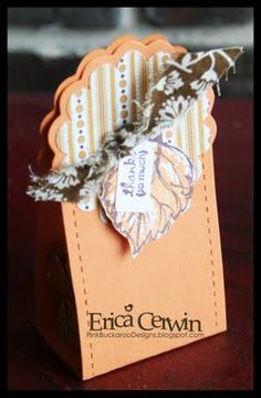 Stampin' Up!  Two Tags Treat Holder  Erica Cerwin