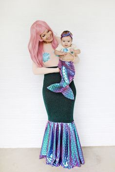 Mother + daughter mermaid costume DIY