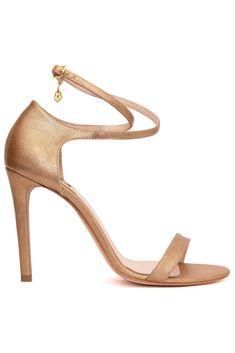HANNAMI - SANDALE PIELE SIDEFATA BRONZ SHINE Stuart Weitzman, Sandals, Heels, Fashion, Amor, Heel, Moda, Shoes Sandals, Fashion Styles