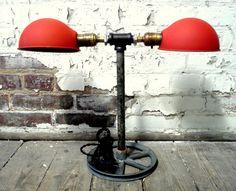 Just Custom Lighting - Listings View Vintage Industrial Factory Task Light Reborn Into Rustic Modern Desk Or Table Lamp.   #handmadelighting #lighting #custom #lamps #homedecor