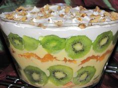 Amarula Fresh Fruit - a South African Trifle Recipe Fruit Trifle, Trifle Desserts, Pudding Desserts, Just Desserts, Delicious Desserts, Brownie Trifle, Baking Desserts, Yummy Food, Christmas Trifle