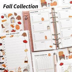 Photo by Planify Pro - Planner Program on September 05, 2021. May be an illustration. #Regram via @www.instagram.com/p/CTbkhRNAmJ0/ Printable Letters, Printable Labels, Printable Planner, Free Printables, Planner Layout, Fall Is Here, Planner Organization, Fall Collections, Weekly Planner