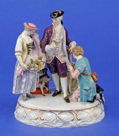 Meissen Porcelain Manufactory (Germany) — Advokat group, 19th century (876×1000)
