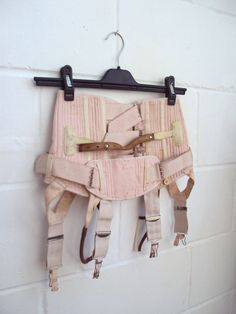 1930s Peach steel boned surgical by corset by Veramode