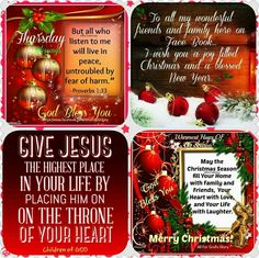 12-24-15 Christmas Jesus, Christmas Greetings, Christmas Cards, Merry Christmas, Good Day Images, Thursday Greetings, King James Bible Verses, Weekday Quotes, Christian Inspiration