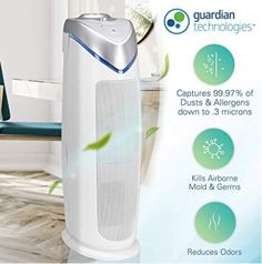 Our 2nd pick for the list is this filterless air purifier by Germ Guardian. The question you must be asking is whether you need an air purifier with no filter or not. If you have spent some good time while searching for the best filterless air purifier for allergies and smoke then you are finally at the right spot for getting one. It is time now that you get rid of those classic ones where you needed to clean the filter over and over again