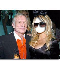 En este #fotomontaje, pondrás una cara en el #cuerpo de Pamela Anderson, vestida de negro, con #gafas oscuras y una diadema con orejas de #conejo. Posa junto a Hugh Hefner, dueño de la prestigiosa magazine #Playboy, que sostiene una copa con el logo de la revista. www.fotoefectos.com