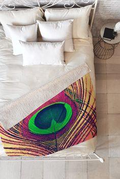 Shannon Clark Peacock 2 Fleece Throw Blanket   DENY Designs Home Accessories