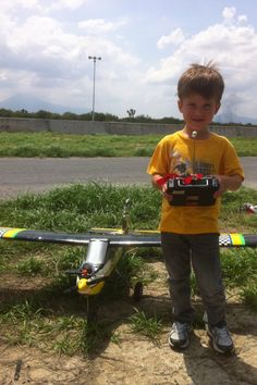 Diego flying his RC plane.