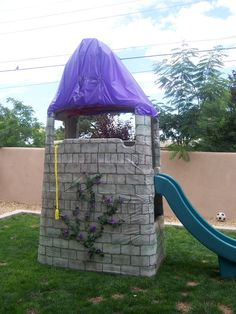 Rapunzel party - turn playground into tower. Great idea!