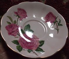 Queen Anne fine bone china tea cup saucer Vintage by WyoGal56, $10.00