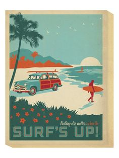 For Guest Room/Bathroom Surf's Up by Global Gallery at Gilt