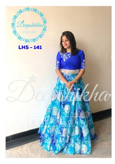 LHS - Beautiful floor length anarkali dress with floral print. Anarkali dress with floret lata design hand embroidery thread work. For queries kindly WhatsApp: 9059683293 . Kalamkari Dresses, Ikkat Dresses, Brocade Dresses, Long Gown Dress, Frock Dress, Anarkali Dress, Dress Neck Designs, Bridal Blouse Designs, Floral Print Gowns