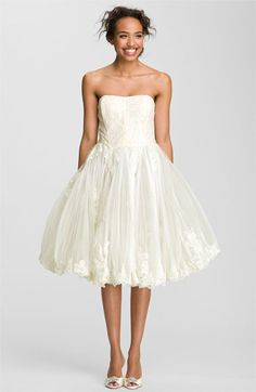 Ted Baker London 'Raul' Strapless Tulle Fit & Flare Dress | Nordstrom  Still sayin, super cute with cowboy boots!