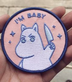 My friend Nicole Cute Patches, Pin And Patches, Diy Patches, Embroidery Patches, Embroidery Art, Les Moomins, Wow Art, Mo S, Cute Pins