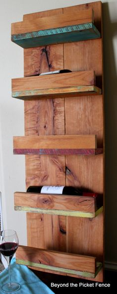 Reclaimed Wood Wine Rack These Are a Few of My Favorite Things 2013 http://bec4-beyondthepicketfence.blogspot.com/2013/12/these-are-few-of-my-favorite-things-2013_27.html