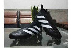 1817ce39fae77 Adidas ACE 16+ Pure Control FG Soccer Cleats Black White