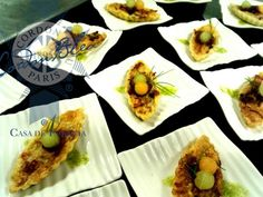 Tartas de higo. #Eventos #Canapés #RestauranteFrancés