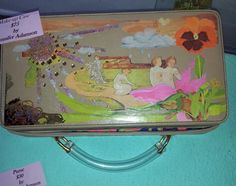 Opening Look Sunday 19 April 2015. Decorated box may be used as pursue or makeup case. By Jennifer Adamson.