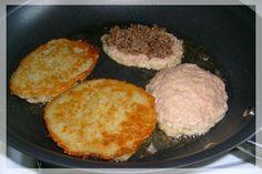 Potato Pancakes Stuffed with Ground Beef Recipe   MyDeliciousMeals.com