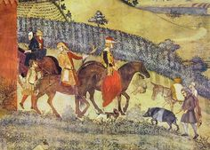Effect of Good Government on City and Country by Ambrogio Lorenzetti (fragment) 1338-1340