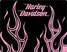 Harley-Davidson In Flames (pink)
