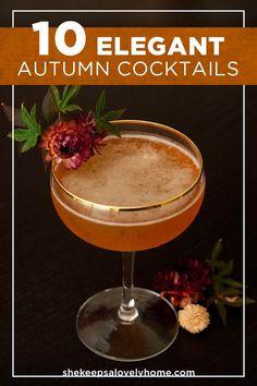 Beste Cocktails, Cocktails Bar, Winter Cocktails, Fall Drinks, Craft Cocktails, Party Drinks, Cocktail Drinks, Cocktail Recipes, Cocktail Parties
